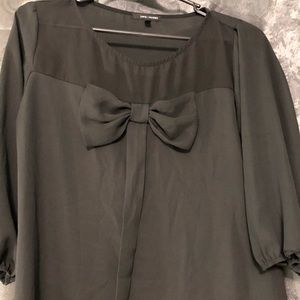 Tops - Black Bow Blouse